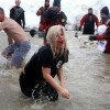 Lady Gaga's Wig and Red Lipstick Turned Heads in the Chicago Polar Plunge