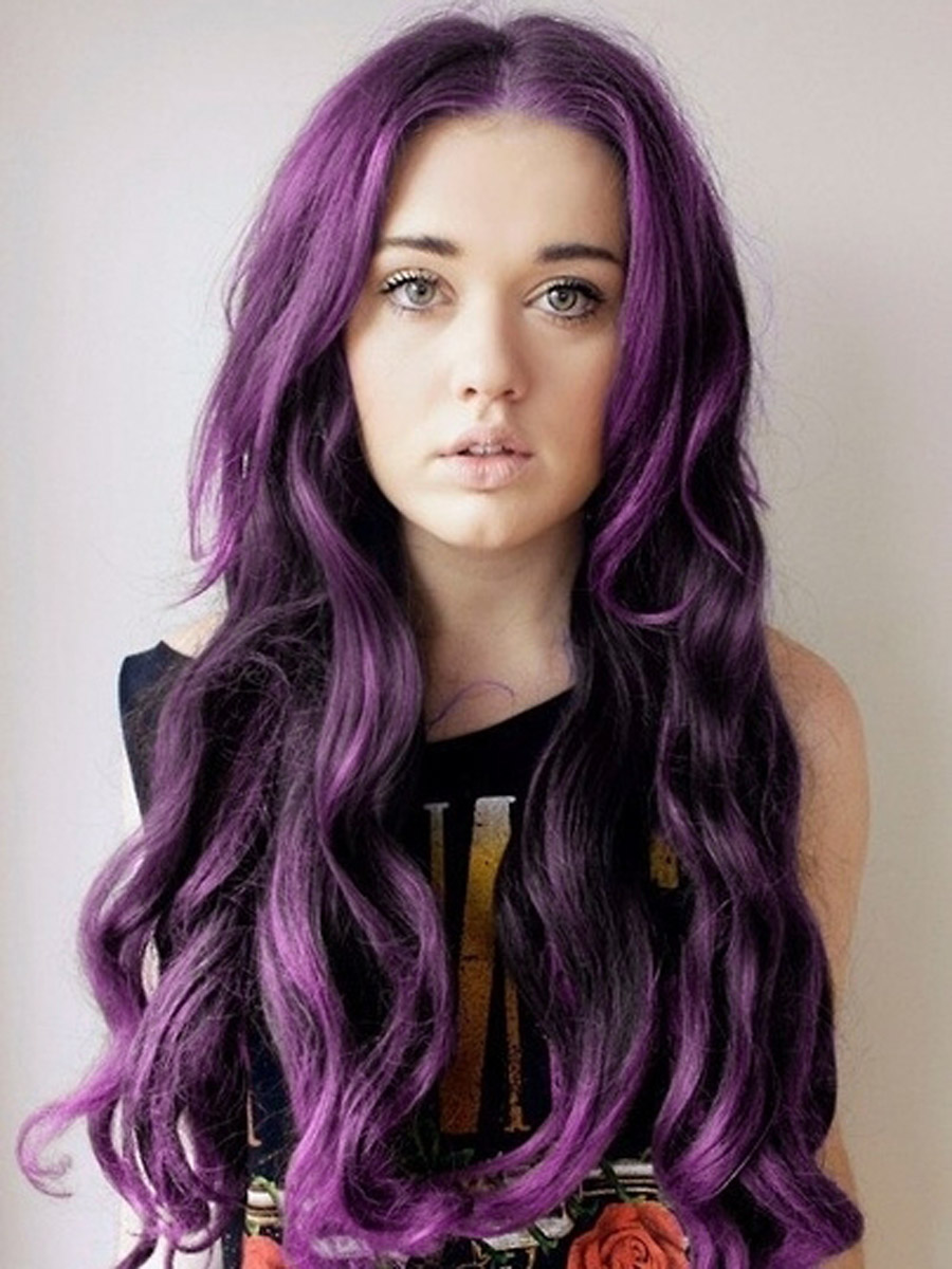 Purple Desire Hair Extensions 20 Inch 118