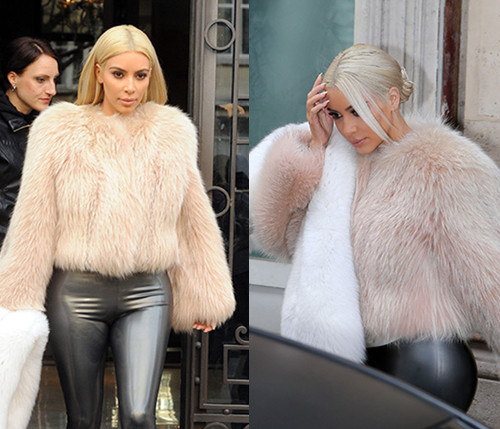 Kim Kardashian Ditches Platinum Blonde For White Blonde