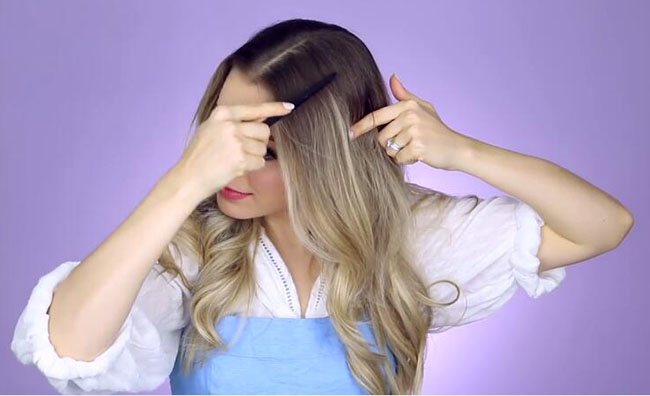 Beauty and the beast inspired sections your hair