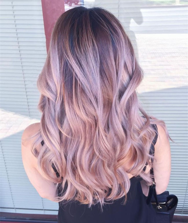 Grey to Pink Ombre Pastel Hair
