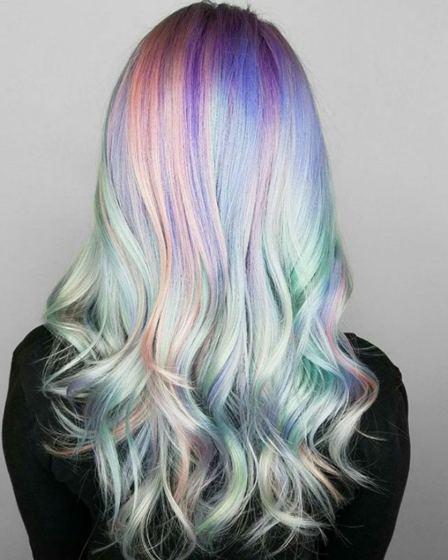 Holographic Pastel Hair