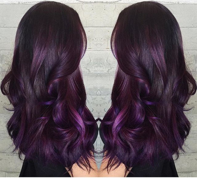 Ombre Purple Pastel Hair