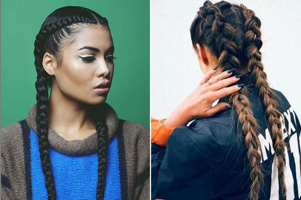 Boxer Braid Hairstyle