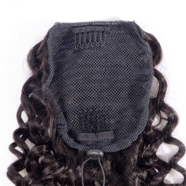 Curly Human Hair Ponytail Extensions