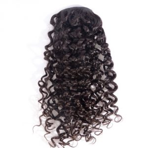 Curly Human Hair Ponytail Extensions Brazilian Virgin Hair Drawstring Pony Tail