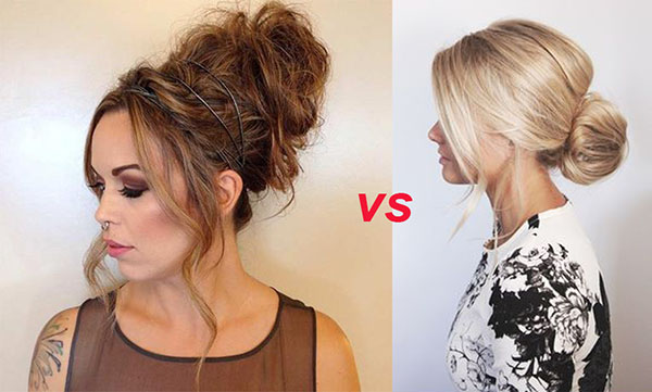 High low messy bun hairstyles