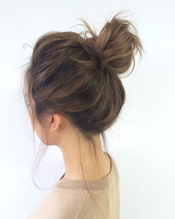 Sassy Messy Bun in brown